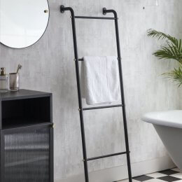 Matt Black Towel Ladder