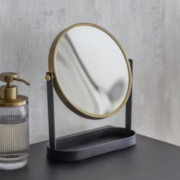 Matt Black Vanity Mirror