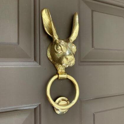 Hare Door Knocker - Brass