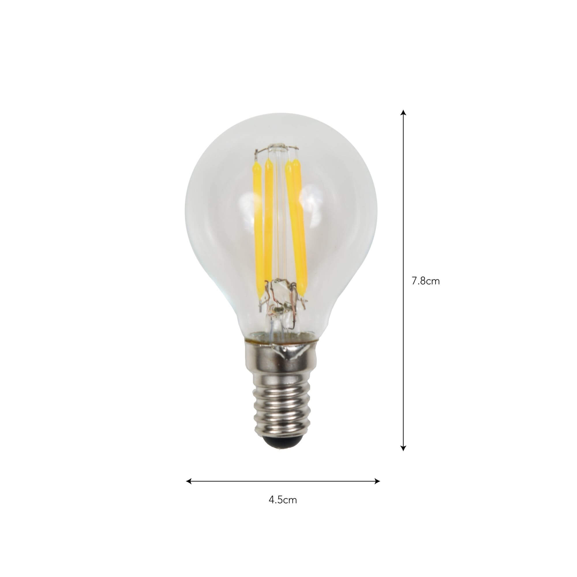 Filament Light Bulb - Golf ball