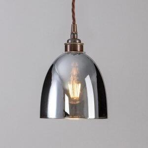 Bell Smoked Glass Pendant Light - Large