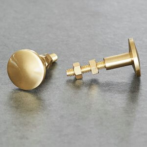 Cabinet Knob - Smooth Brass