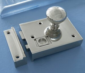 Bathroom Latch - Polished Nickel