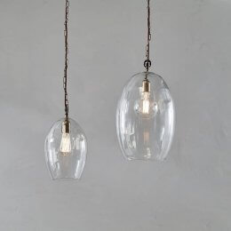 Glass & Brass Pendant Light - save 15%