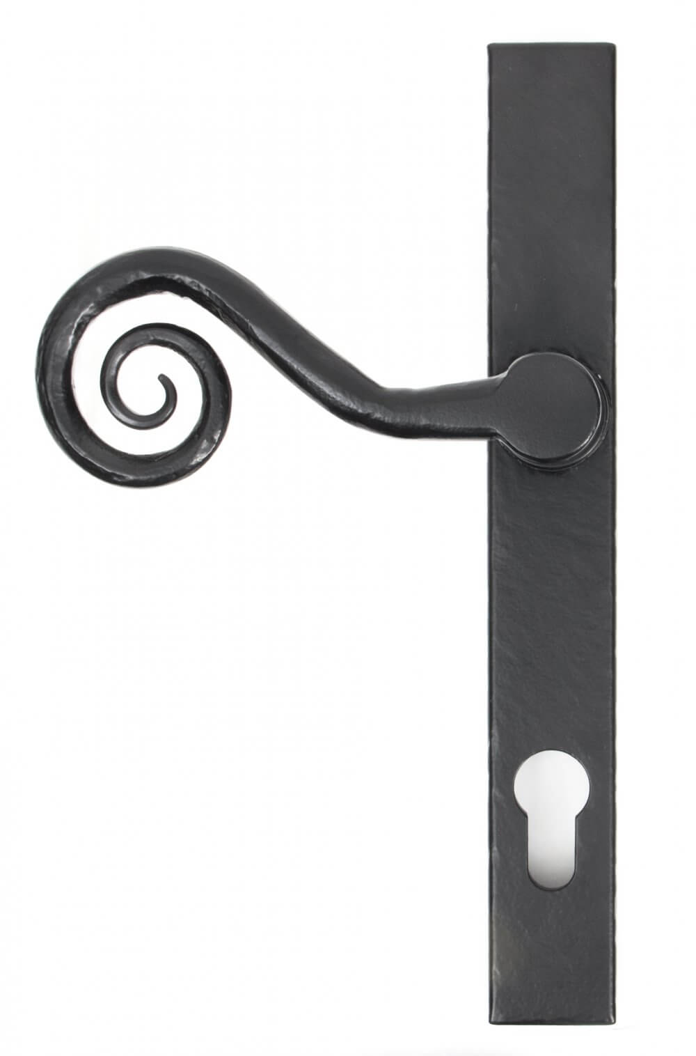 Black Monkeytail Slimline Lever Espag. Lock Set - LH image