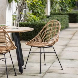 All Weather Bamboo Dining Chairs (Set of 2)