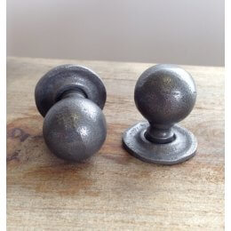 Round Forged Cabinet Knob- Patine