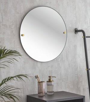 Matt Black Bathroom Mirror