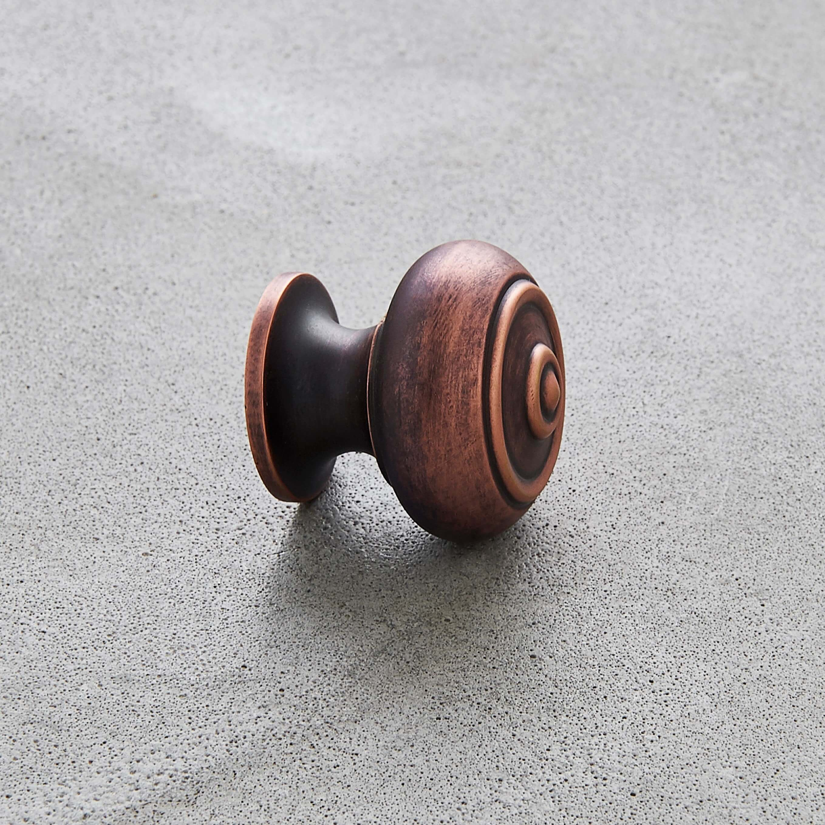 Regency Style Small Cabinet Knob - Aged Bronze