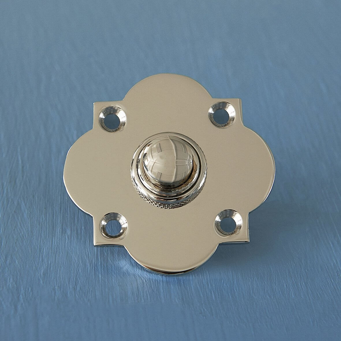 Quatrefoil Bell Push - Polished Nickel