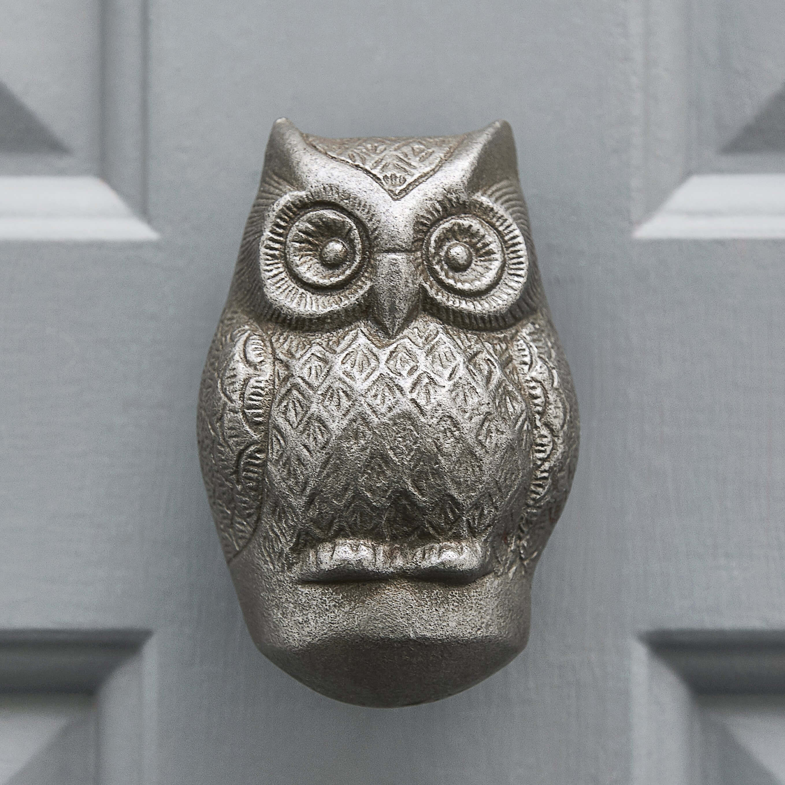Owl Door Knocker - Antique Iron