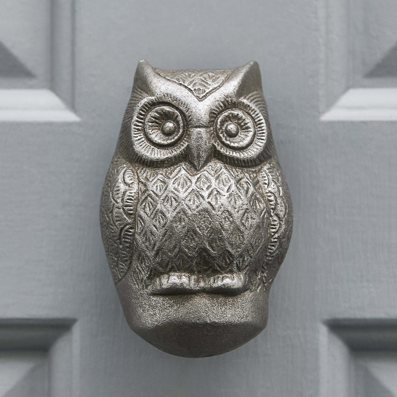 Owl Door Knocker - Antique Iron