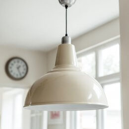 Large Kitchen Pendant Light - Cream save 25%