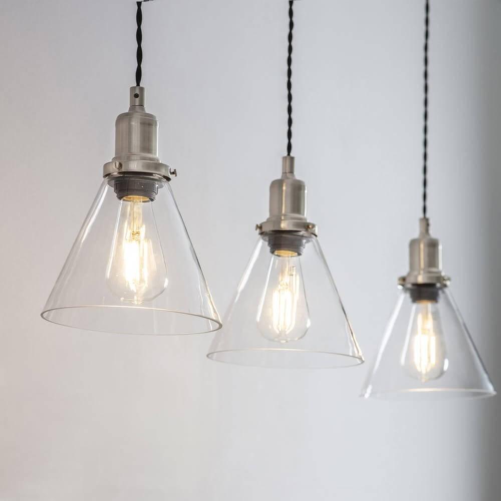 Trio of Cone Pendant Lights - SAVE 15%