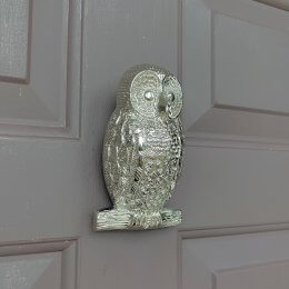 Owl Door Knocker - Nickel