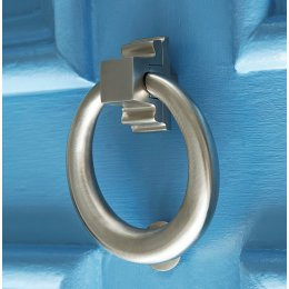 Hoop Door Knocker - Satin Nickel