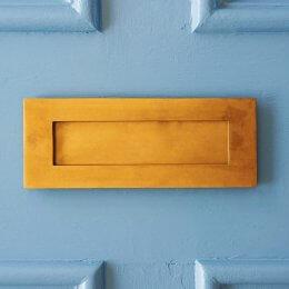 Original Style Letterplate - Aged Brass