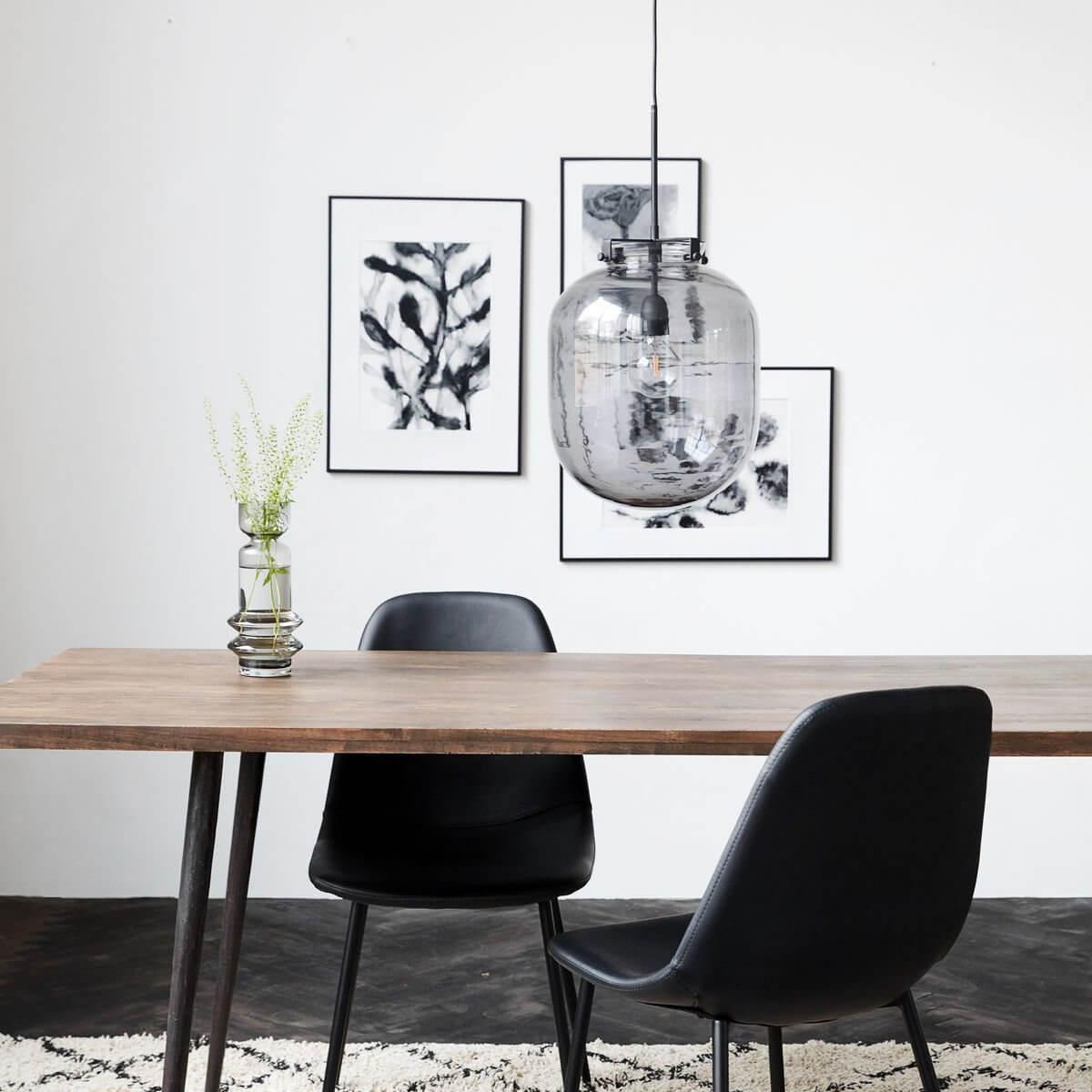 Grey Glass Pendant Light