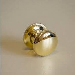 Victorian Cupboard Knob - Polished Brass