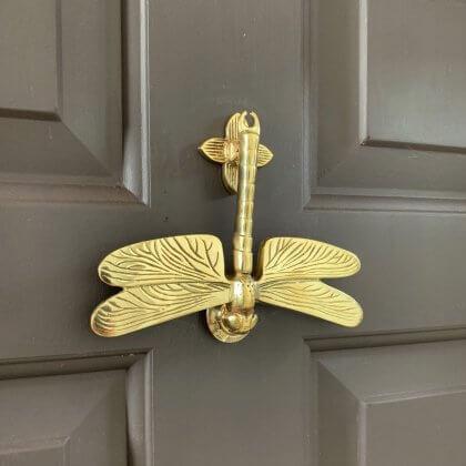 Dragonfly Door Knocker - Brass