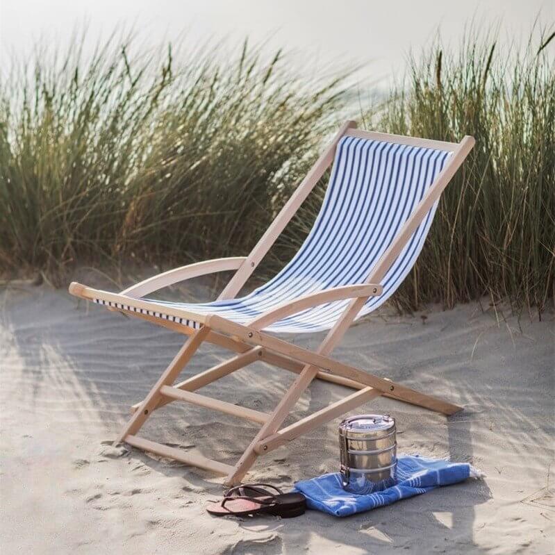 Rocking Deck Chair - Blue Stripe