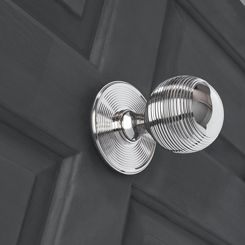Beehive Door Pull - Polished Nickel