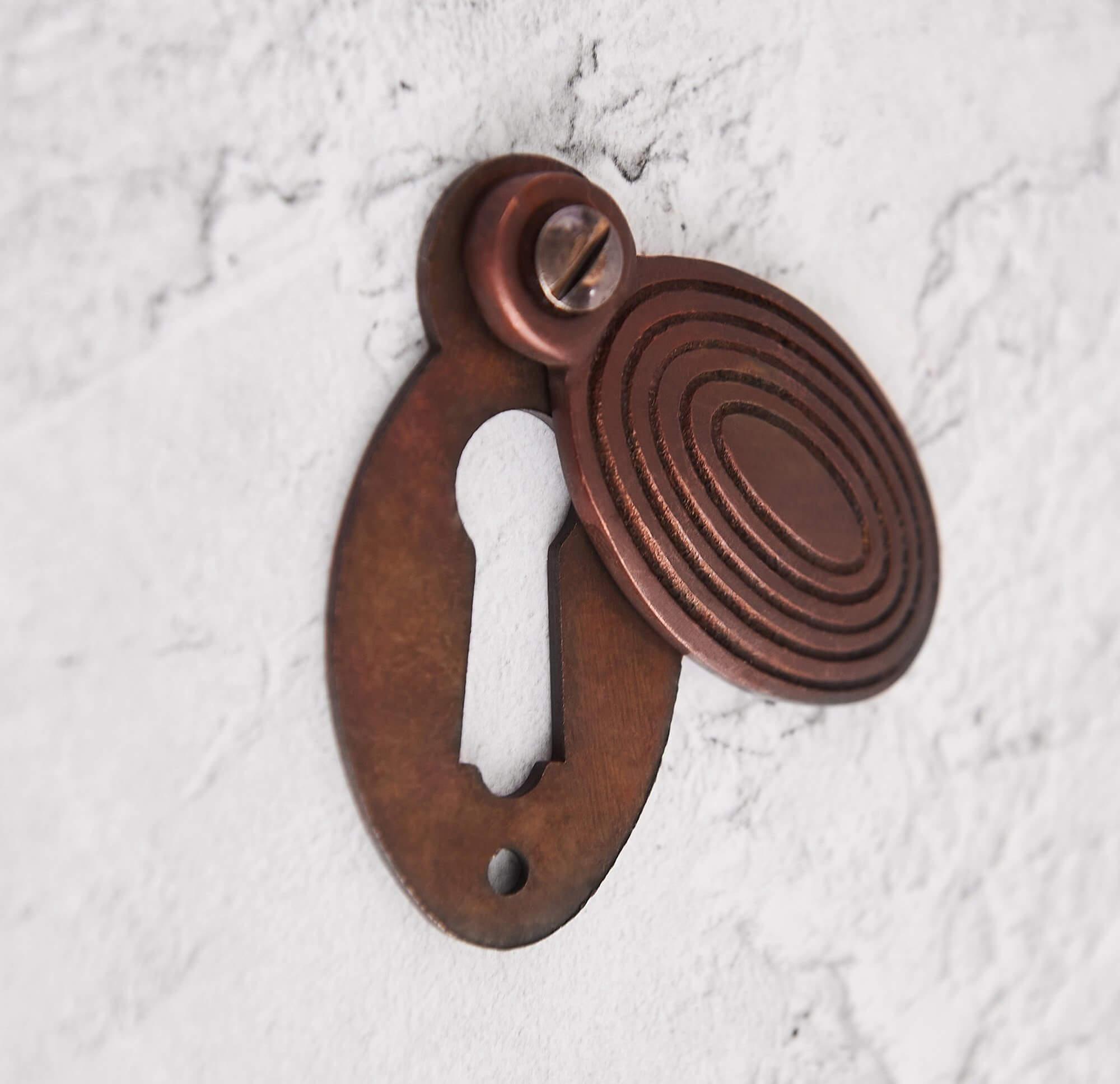 Beehive Escutcheon - Aged Bronze