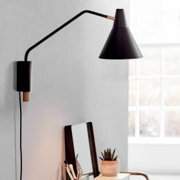 Nordy Adjustable Wall Light - Black