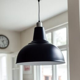 Large Kitchen Pendant Light - Black save 20%