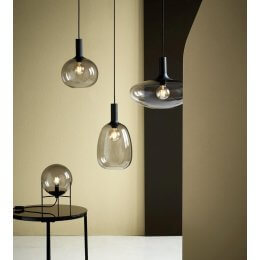 Blown Smoked Glass Pendant Lights