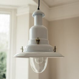 Fishing Pendant Light Large - White