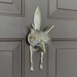 Fox Door Knocker - Nickel