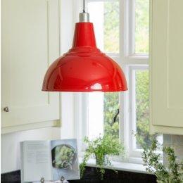 Large Kitchen Pendant Light - Red