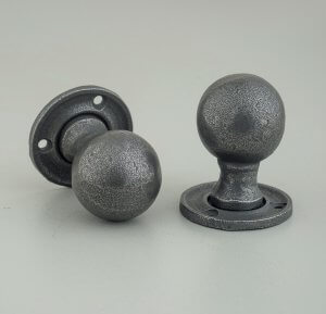 Hand Forged Round Door Knobs (Pair) - Patine ONLY 1 PAIR REMAINING