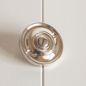 Round Bell Push - Polished Nickel
