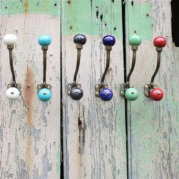 Ceramic Hat and Coat Hook - Kitu SAVE 25%