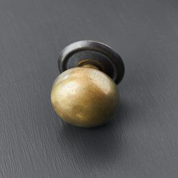 Cottage Bun Cabinet Knob - Antique Brass