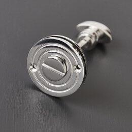 Round Bathroom Turn & Release - Polished Nickel