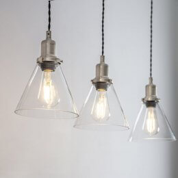 Trio of Cone Pendant Lights