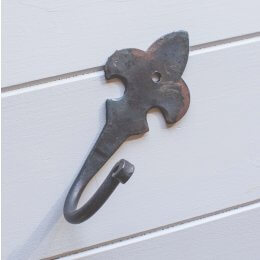 Fleur-De-Lys Forged Hook - Black Waxed save 25%