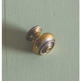 Regency-Style Small Cabinet Knob - Brass