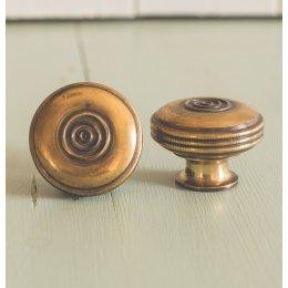 Regency-Style Large Cabinet Knob - Brass - SAVE 10%