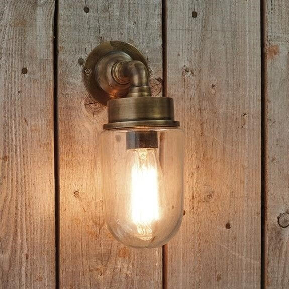 Norbert Outdoor Wall Light - Antique Brass