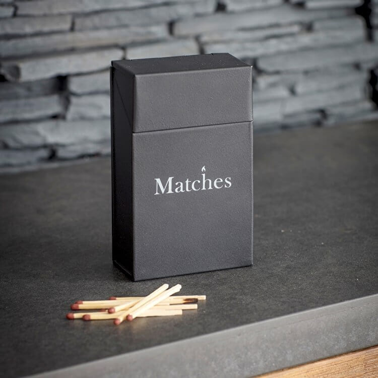 Matches Box - Carbon