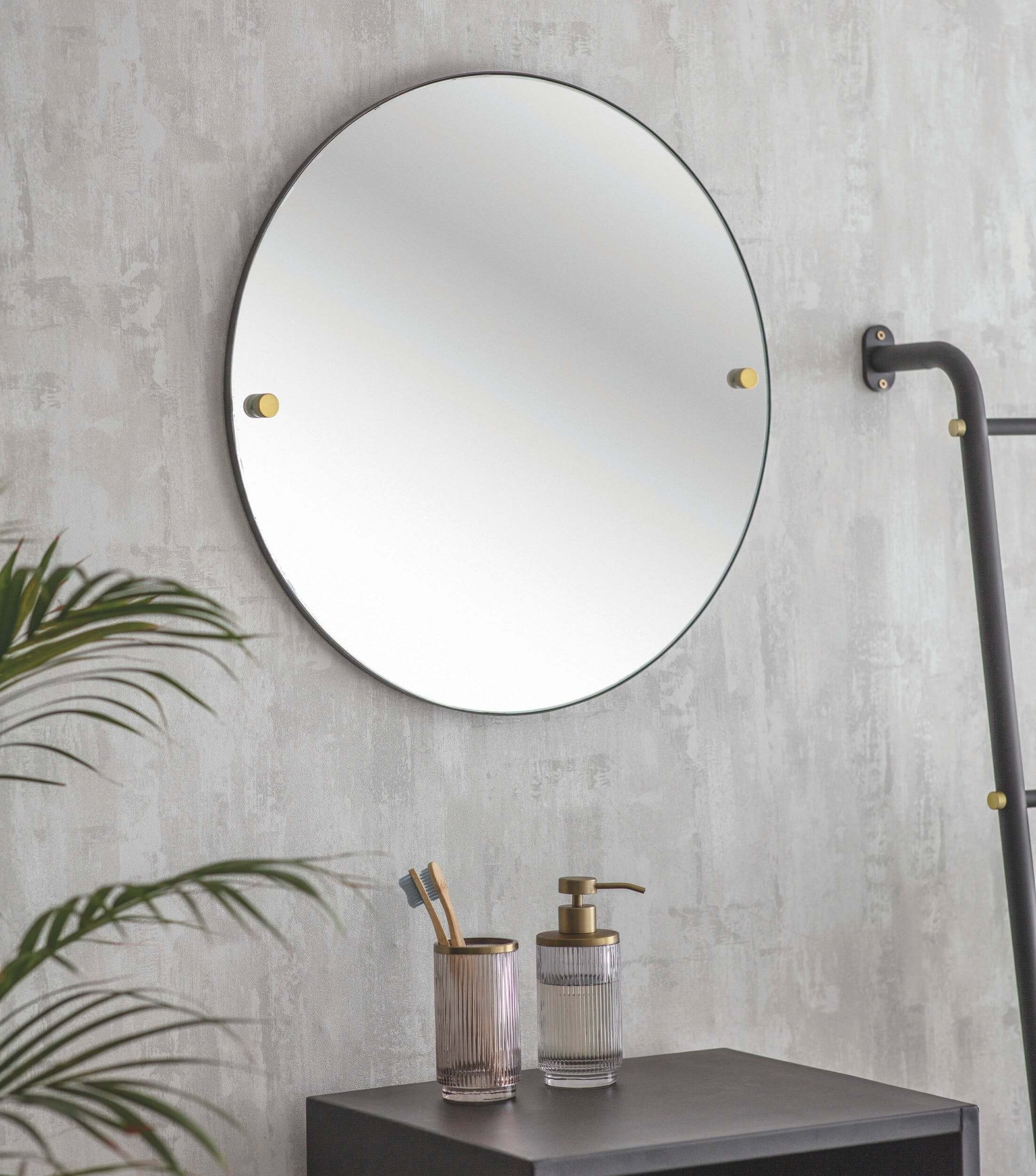 Matt Black Bathroom Mirror