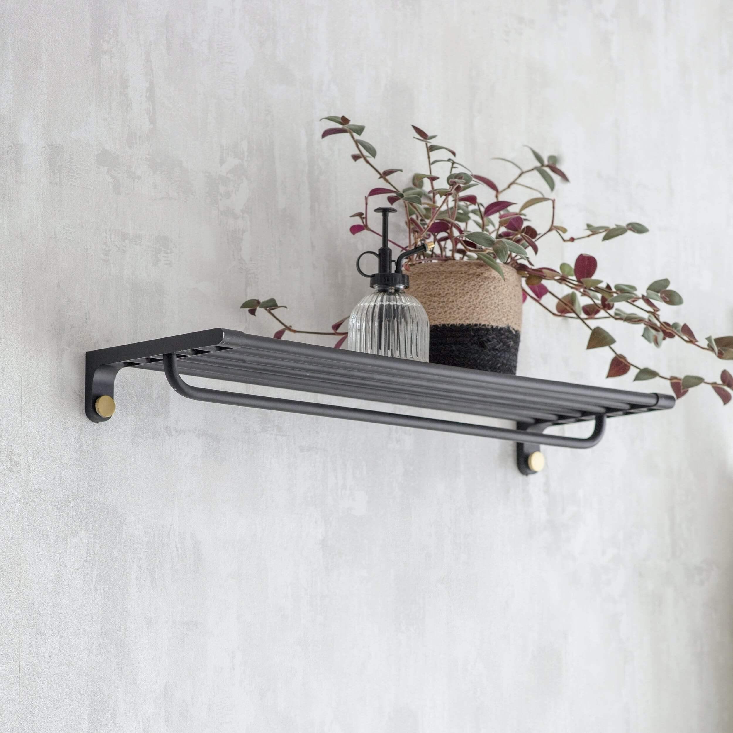 Matt Black Wall Shelf
