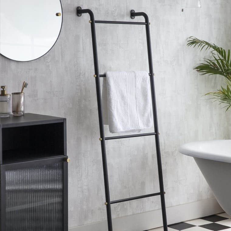 Matt Black Towel Ladder
