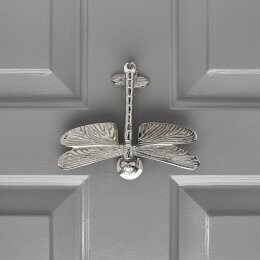 Dragonfly Door Knocker - Nickel