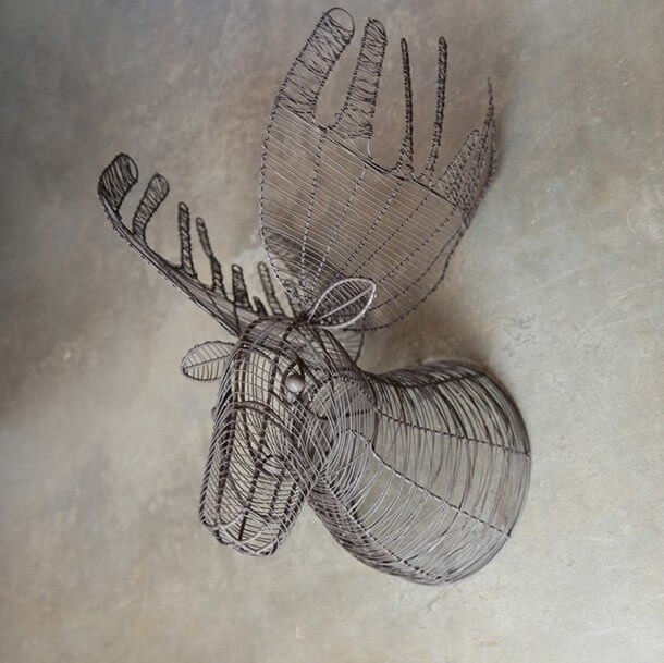 Wire Moose Head
