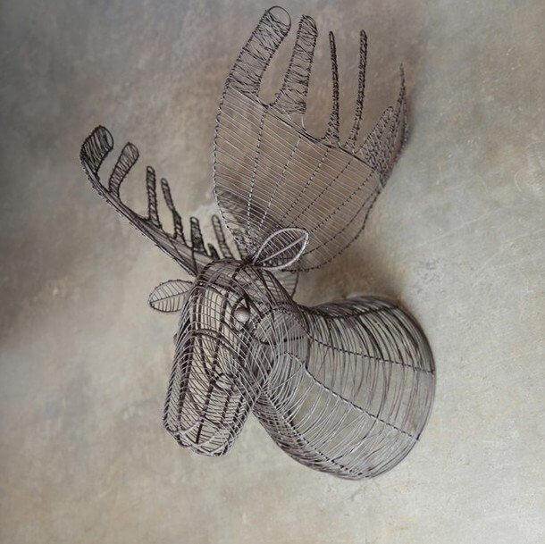 Wire Moose Head